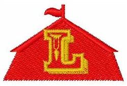 Circus Tent Font L embroidery design