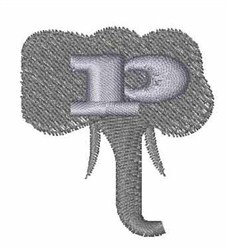 Elephant Font p embroidery design