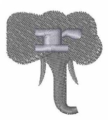 Elephant Font r embroidery design