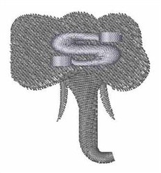 Elephant Font s embroidery design