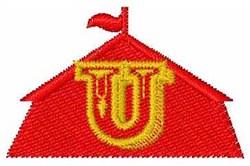 Circus Tent Font U embroidery design