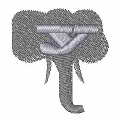 Elephant Font y embroidery design