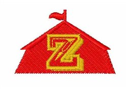Circus Tent Font Z embroidery design