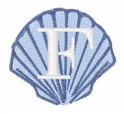 Sea Shells Font F embroidery design