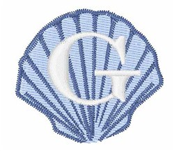 Sea Shells Font G embroidery design