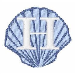 Sea Shells Font H embroidery design