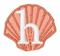 Sea Shells Font h embroidery design