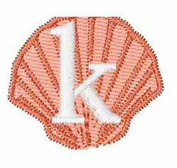 Sea Shells Font k embroidery design