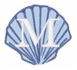 Sea Shells Font M embroidery design