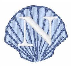 Sea Shells Font N embroidery design