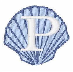 Sea Shells Font P embroidery design