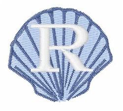 Sea Shells Font R embroidery design