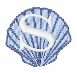 Sea Shells Font S embroidery design
