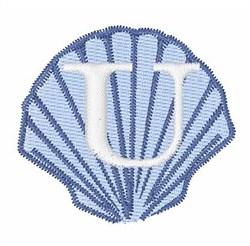 Sea Shells Font U embroidery design