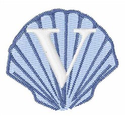 Sea Shells Font V embroidery design