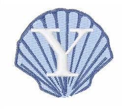 Sea Shells Font Y embroidery design
