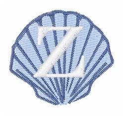 Sea Shells Font Z embroidery design