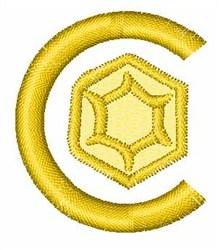 Gemstones Font C embroidery design