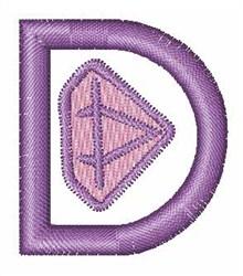 Gemstones Font D embroidery design