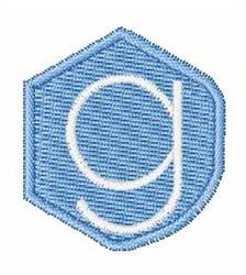 Gemstones Font g embroidery design