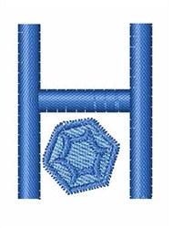 Gemstones Font H embroidery design