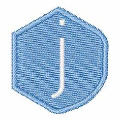Gemstones Font j embroidery design
