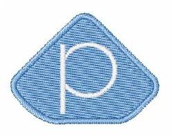 Gemstones Font p embroidery design