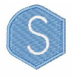 Gemstones Font s embroidery design