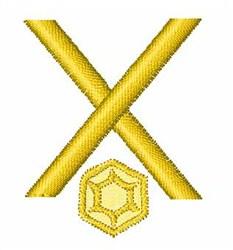 Gemstones Font X embroidery design
