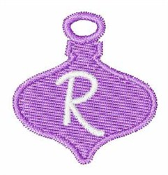 Christmas Ornament Font R embroidery design
