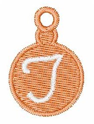 Christmas Ornament Font T embroidery design