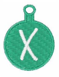 Christmas Ornament Font X embroidery design