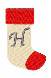 Stocking Font H embroidery design