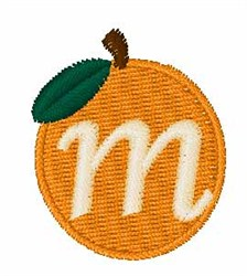 Stocking Fruit Font m embroidery design