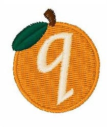 Stocking Fruit Font q embroidery design