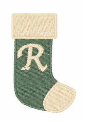 Stocking Font R embroidery design