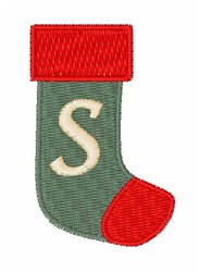 Stocking Font S embroidery design