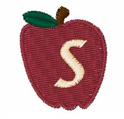 Stocking Fruit Font s embroidery design