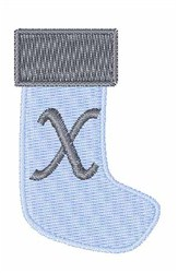 Stocking Font X embroidery design