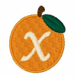 Stocking Fruit Font x embroidery design