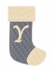 Stocking Font Y embroidery design