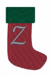 Stocking Font Z embroidery design
