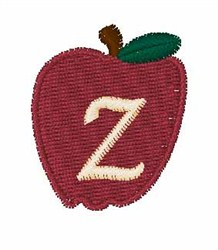 Stocking Fruit Font z embroidery design