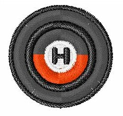 Vinyl Record Font  H embroidery design