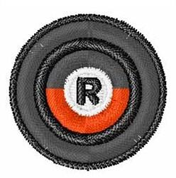 Vinyl Record Font R embroidery design