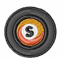 Vinyl Record Font S embroidery design