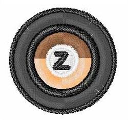 Vinyl Record Font Z embroidery design