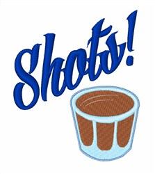 Shots! embroidery design