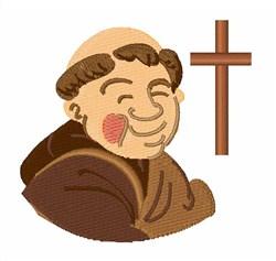 Catholic Monk embroidery design