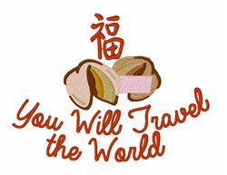 You WIll Travel embroidery design